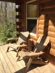 Pretty adirondack chairs on the front porch.  Also, about the only place I could get phone reception!